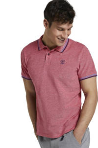 Tom Tailor gemêleerde regular fit polo roze/blauw, Roze/blauw