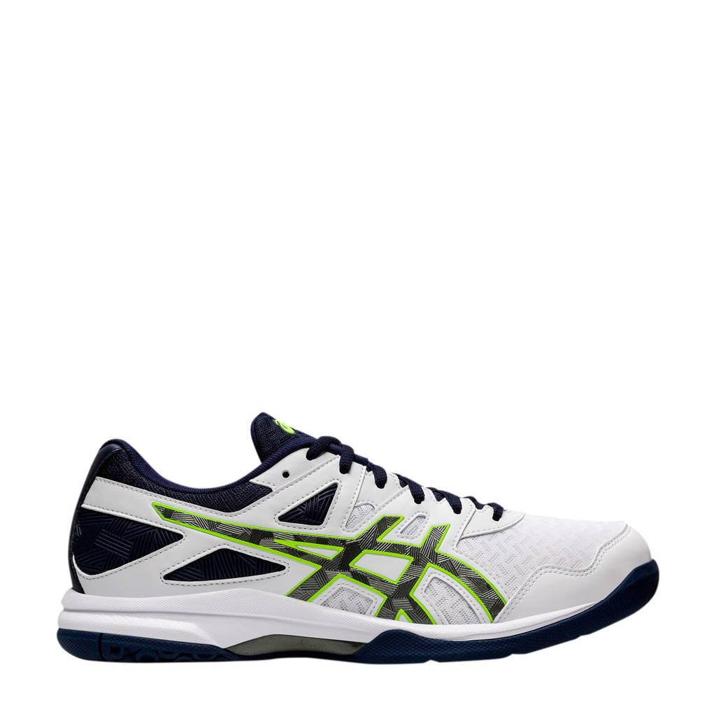 ASICS Gel-Task 2 sportschoenen wit/antraciet/geel, Wit/Antraciet/geel