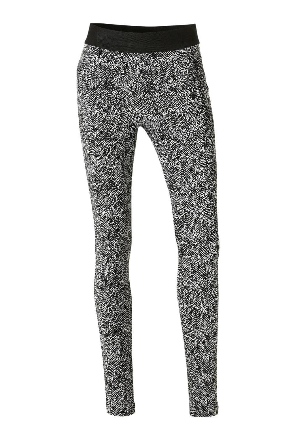 anytime legging in slangeprint zwart/ecru, Zwart/ecru