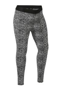 anytime Plus size legging in slangeprint zwart/ecru, Zwart/ecru
