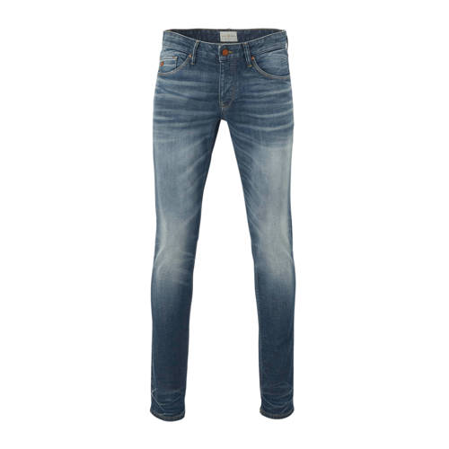 Cast Iron slim fit jeans mid blue wash greencast