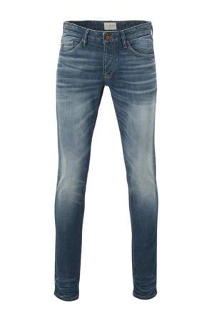 slim fit jeans Riser mid blue wash greencast