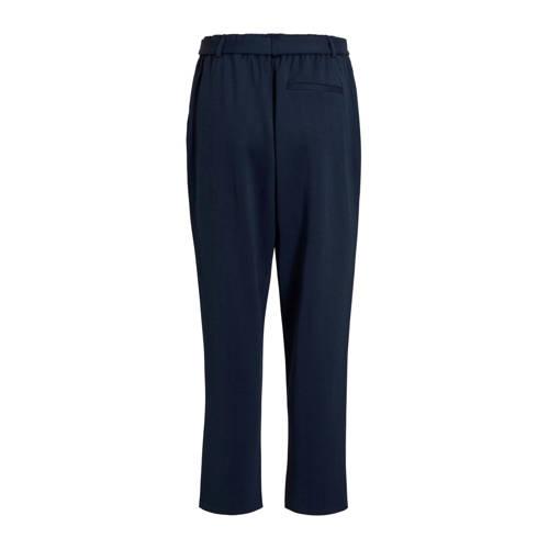 VILA tapered fit broek donkerblauw