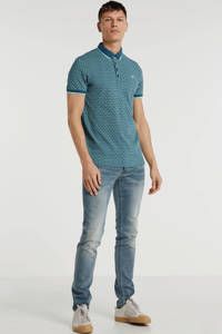 Cast Iron slim fit polo groen, Groen