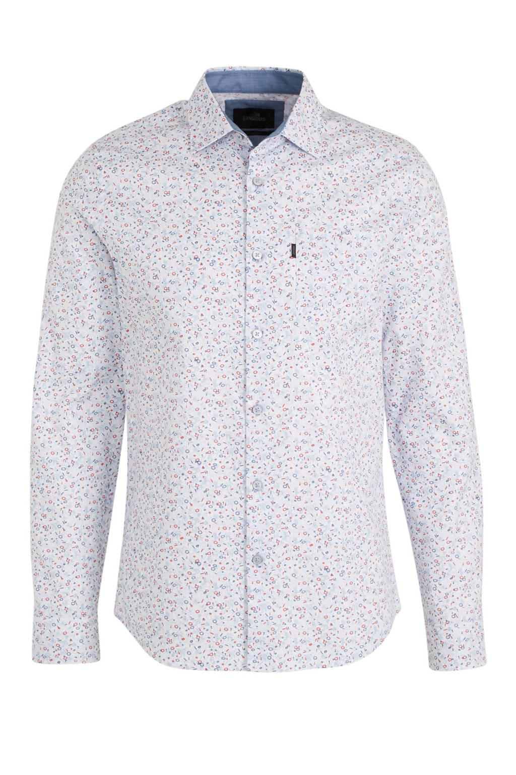 Vanguard gebloemd regular fit overhemd wit, Wit