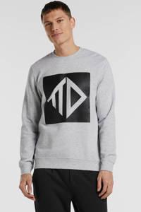 Tom Tailor sweater met printopdruk grijs, Grijs