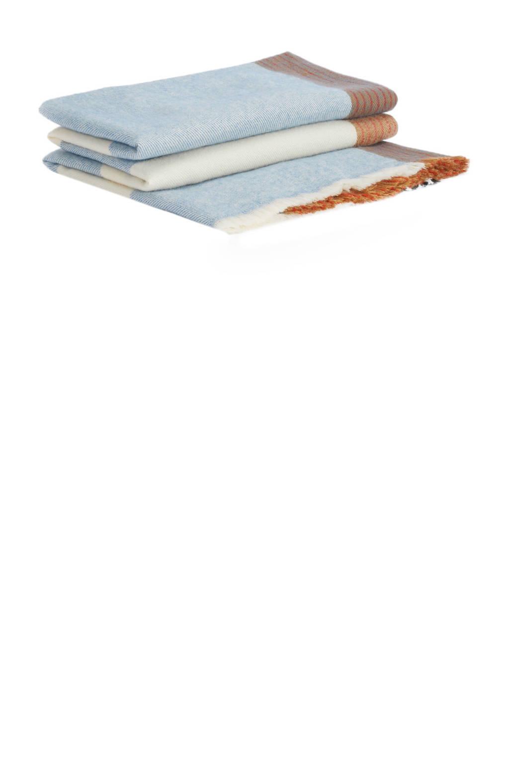 Parfois sjaal blauw, Blauw/beige