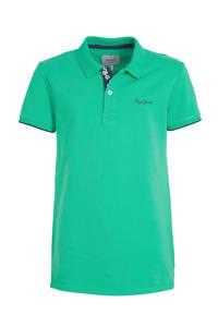 Pepe Jeans polo Thor JR met logo en borduursels groen, Groen
