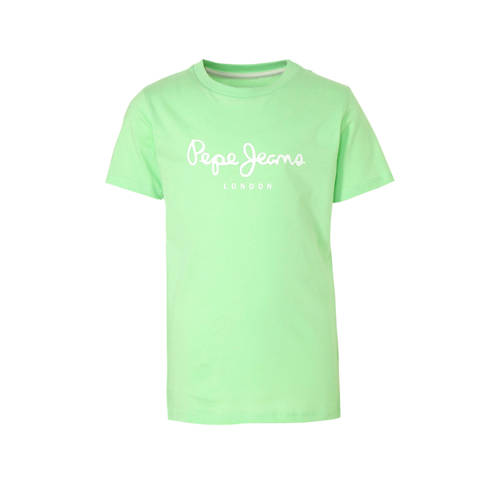 Pepe Jeans T-shirt met logo lichtgroen