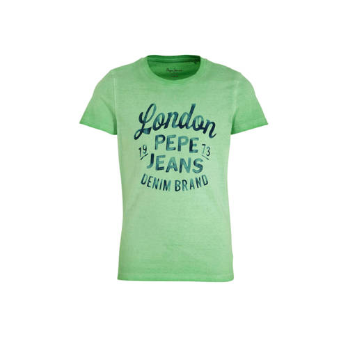 Pepe Jeans T-shirt Adan met logo groen