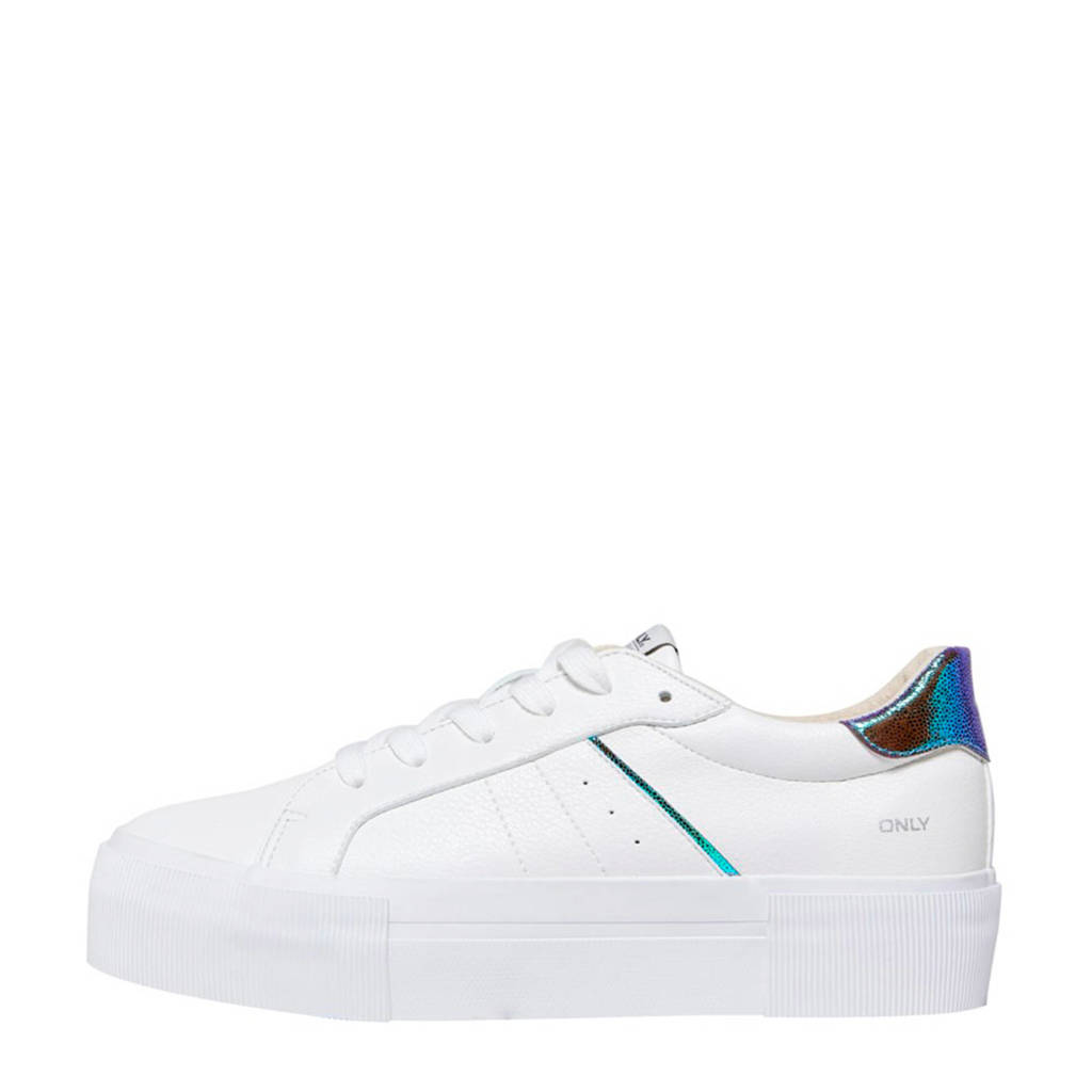 ONLY SAILOR  sneakers wit/metallic blue, Wit/Metallic Blue