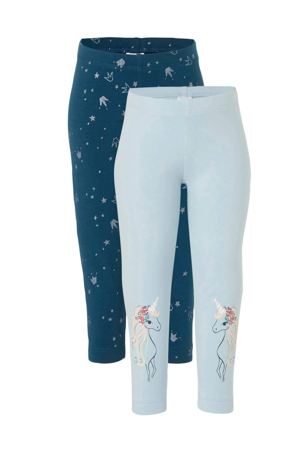 C&A Palomino leggings petrol/mint - set van 2, Mintgroen/petrol