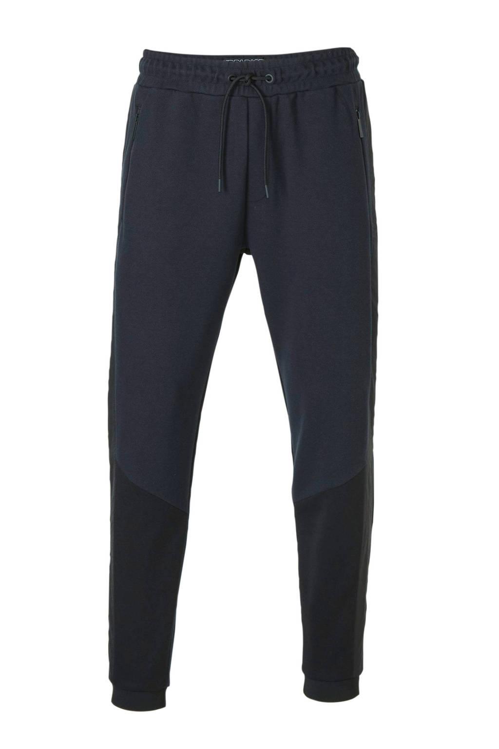 C&A Angelo Litrico regular fit joggingbroek donkerblauw/zwart/oranje, Donkerblauw/zwart/oranje