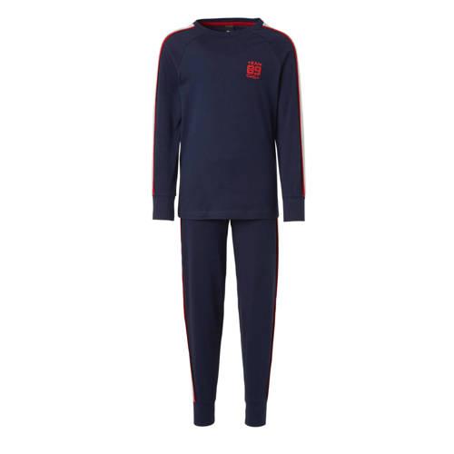 C&A Here & There pyjamabroek en longsleeve donkerblauw-rood-grijs