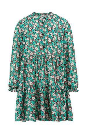 gebloemde jurk Elvy groen