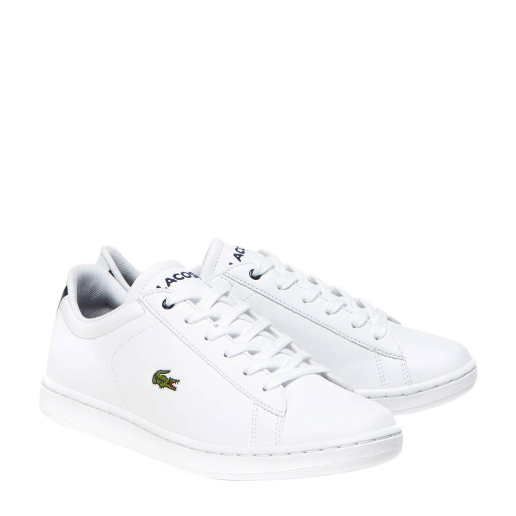 Lacoste Carnaby Evo BL 1 SUJ sneakers wit/donkerblauw, Wit/donkerblauw