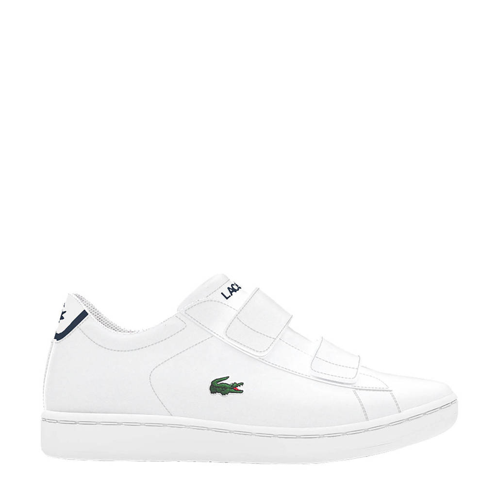 Lacoste Carnaby Evo BL 1 SUI sneakers wit/donkerblauw, Wit/donkerblauw