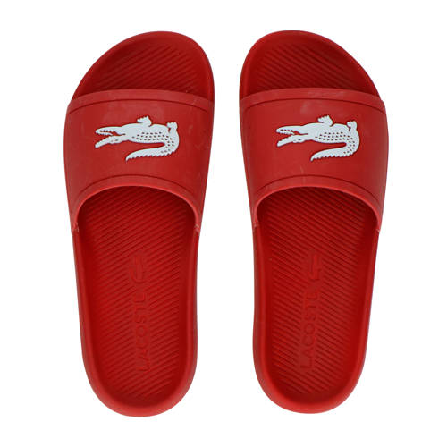 Lacoste Croco Slide 119 badslippers rood/wit