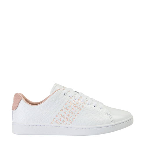 Lacoste Carnaby Evo 120 3 sneakers wit/naturel
