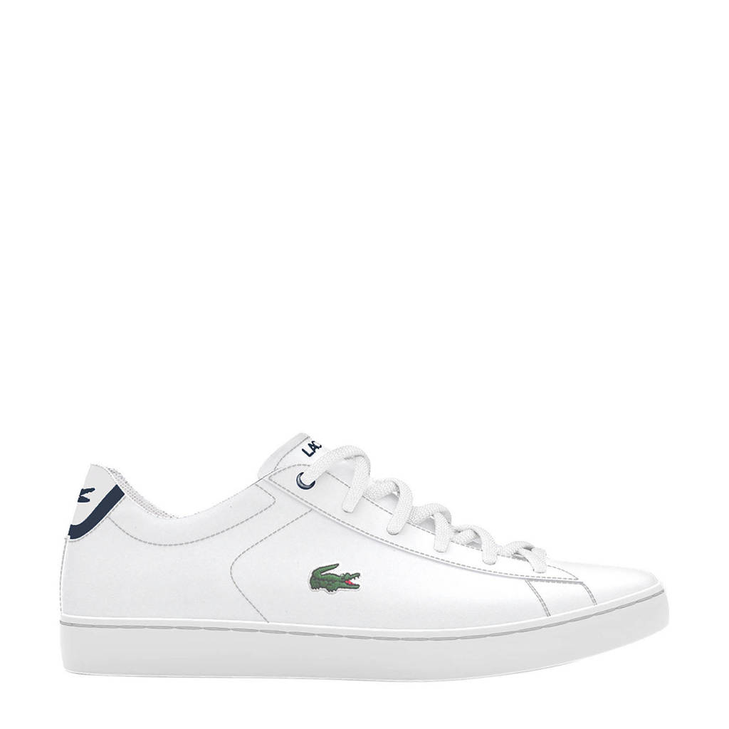 Lacoste Carnaby Evo BL 1 SUC sneakers wit/donkerblauw, Wit/donkerblauw