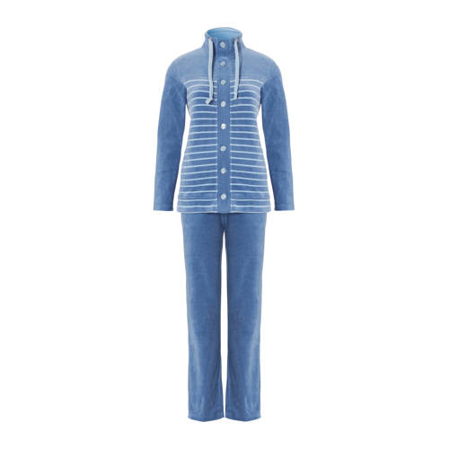 Pastunette velours huispak blauw