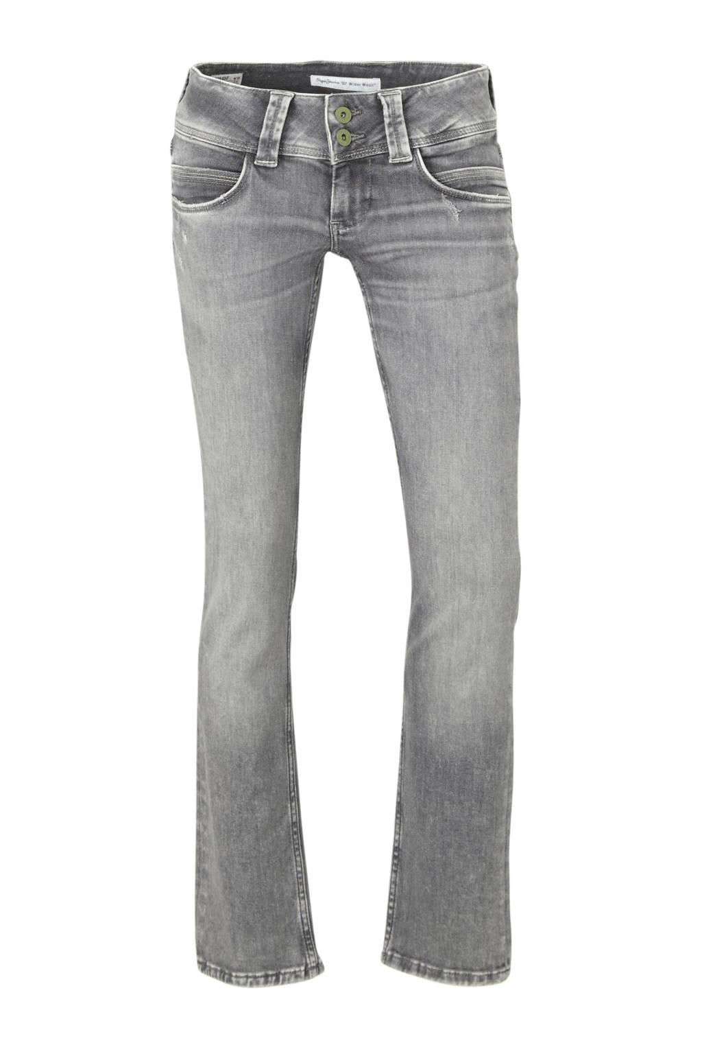 Pepe Jeans low waist straight fit jeans Venus grijs, Grijs
