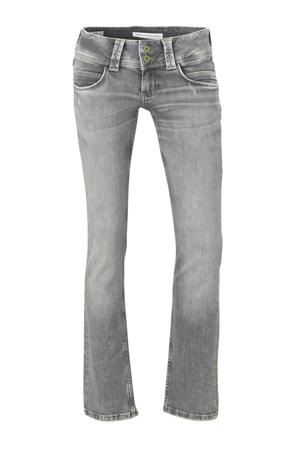 low waist straight fit jeans Venus grijs