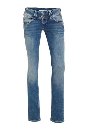 low waist straight fit jeans blauw