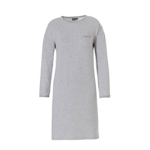 Pastunette Deluxe gestreept nachthemd grijs