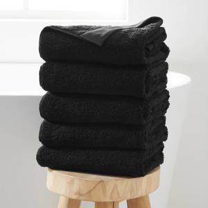 handdoek hotelkwaliteit (set van 5) (50 x 100 cm) Zwart