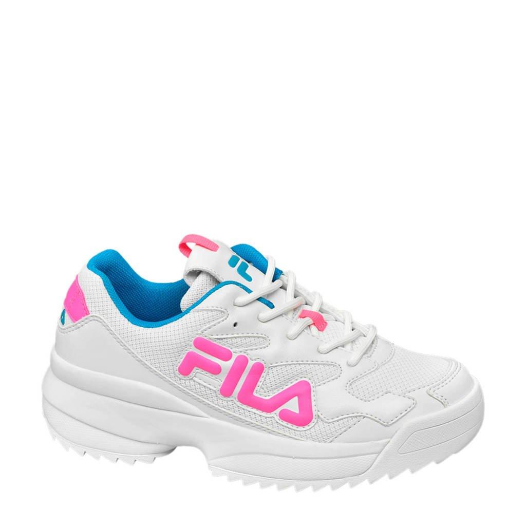 Fila   chunky sneakers wit/roze, Wit/roze/blauw