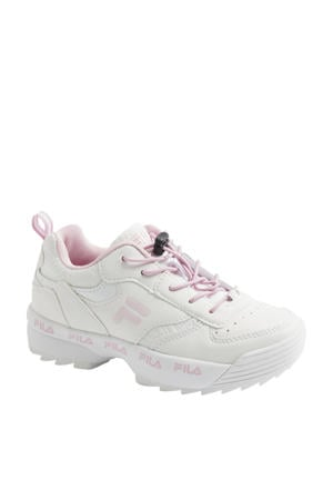 chunky sneakers wit/roze