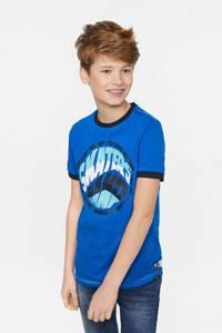 WE Fashion T-shirt - set van 2 lichtblauw/donkerblauw, Lichtblauw/donkerblauw