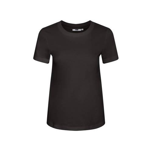 WE Fashion T-shirt van biologisch katoen zwart
