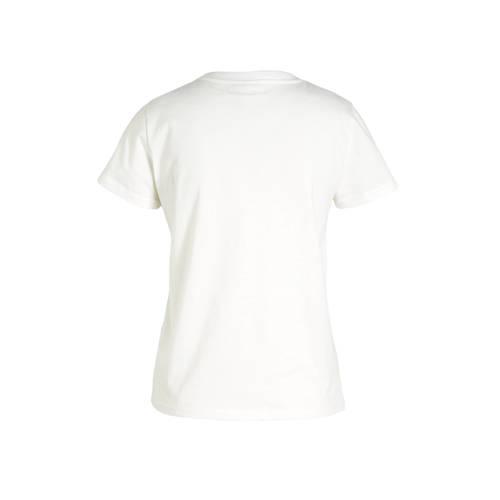 WE Fashion T-shirt van biologisch katoen donkerbla