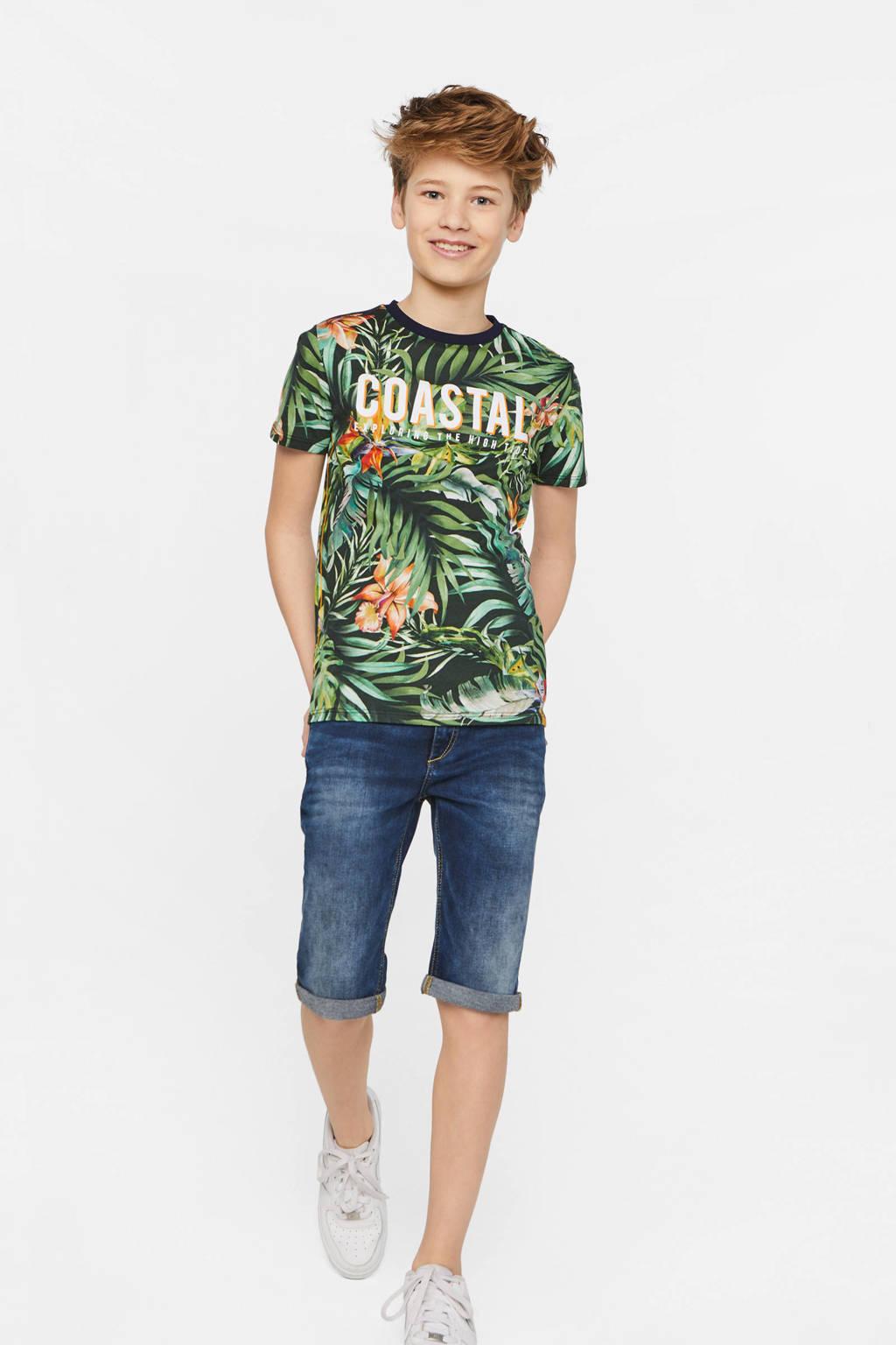 WE Fashion regular fit T-shirt met all over print multi, Multi