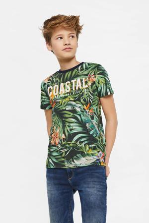 regular fit T-shirt met all over print multi