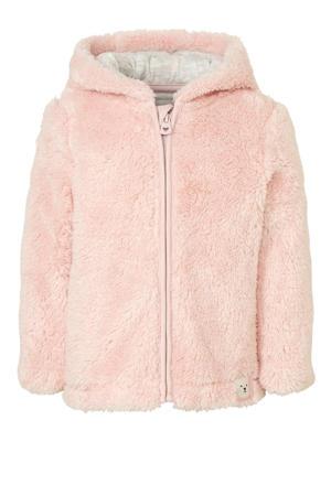 fleece vest lichtroze