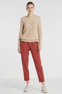 Minimum tapered fit pantalon Sofja groen, Roze