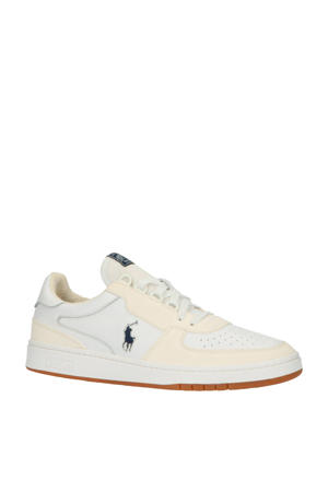 Polo Court  leren sneakers wit