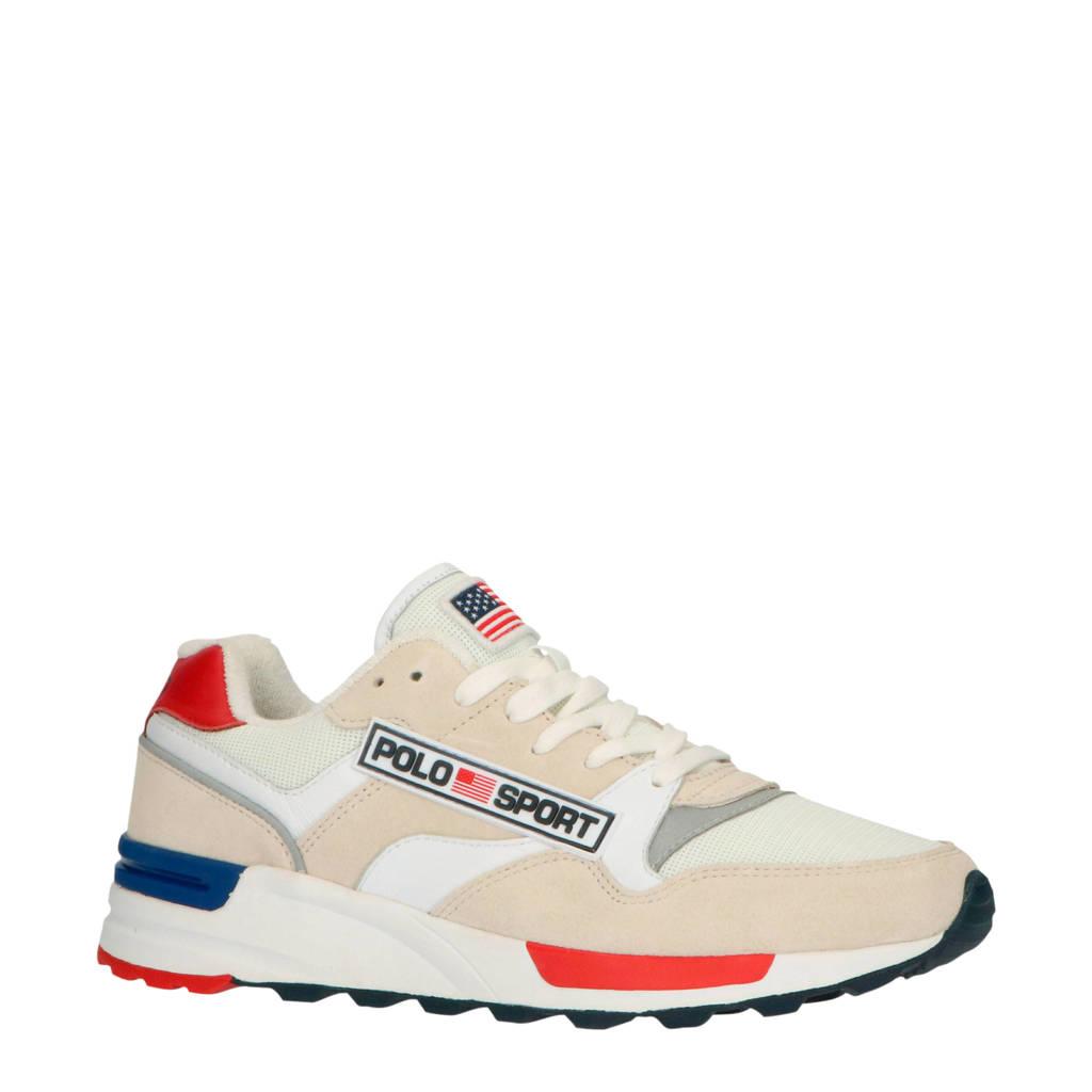 Ralph Lauren Trkstr Sport  leren sneakers wit/multi, Wit/multi