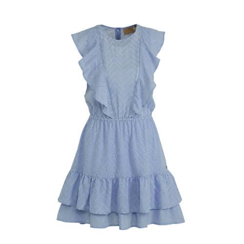 JOSH V jurk RAYA met ruches lichtblauw