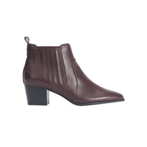 chelsea boots donkerrood
