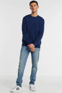 LERROS gemêleerde trui donkerblauw, Donkerblauw