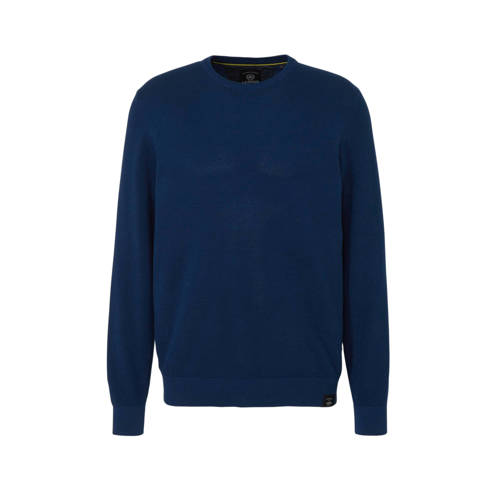 LERROS gem??leerde trui donkerblauw