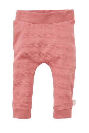 baby gestreepte regular fit broek oudroze