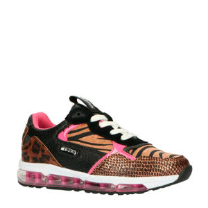 X500  sneakers bruin/roze