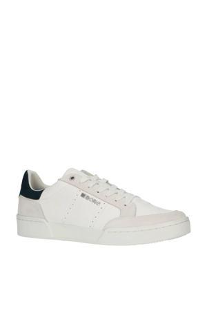 T1316 SPT M  leren sneakers wit/blauw