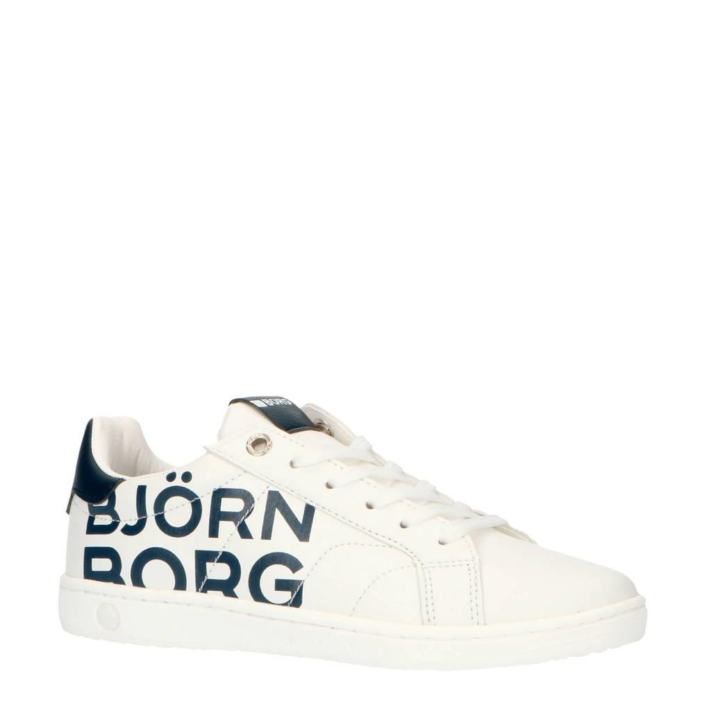 Björn Borg T305 LGO K  sneakers wit/blauw, Wit/blauw