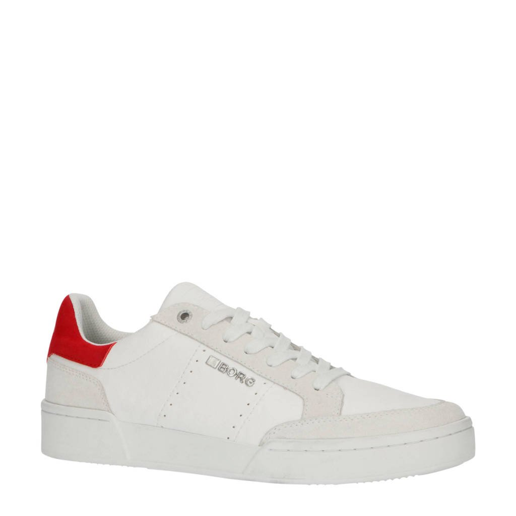 Björn Borg T1316 SPT M  leren sneakers wit/rood, Wit/rood